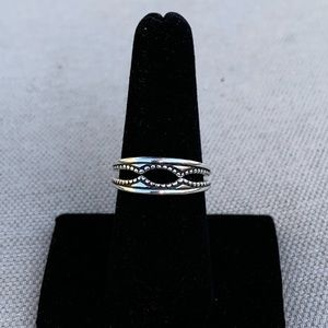 Vintage Jewelry - Sterling accent rings for a solitaire ring